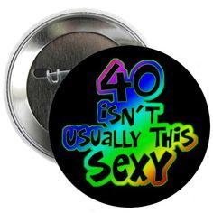 "Rainbow 40th birthday 2.25"" Button"