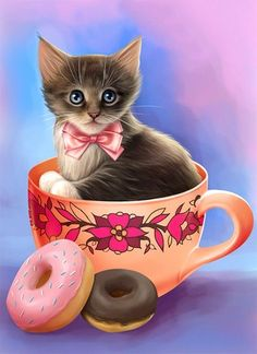 Three Kittens in a Basket Animal Cat Cats animal baby animal basket cat cute kitten Cute Cats And Kittens, I Love Cats, Kittens Cutest, Cute Animals Images, Cute Animal Pictures, Kitten Cartoon, Kitten Images, Pretty Cats, Cat Drawing