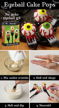 They're creepy, they're kooky, they're cookie pops you can easily make this Halloween!