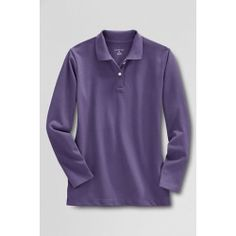 #   Check Cost Online Purchase Women's Long Sleeve Feminine Fit Mesh Polo Shirt - Deep Purple, L Save Check Price Now