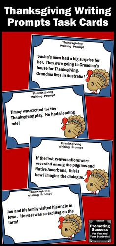 Thanksgiving Writing Prompts - Your elementary students will produce ...