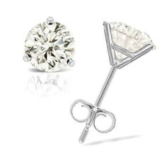 1/3 cttw Round Diamond 3-Prong Stud Earrings Platinum (H-I Color, I1-I2 Clarity) Banvari. $513.50. Made in USA, comes with a FREE certificate of authenticity.. All our gold items are responsibly sourced and the majority is made from environmentally processed recycled gold.. This product comes with a FREE Luxurious Cherrywood Gift Box.. Free Priority Shipping and 30-day money back guarantee.. All diamonds used in our jewelry are conflict free and 100% in compliance with the...