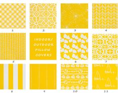 Outdoor, Pillow Covers, Yellow, White, Cushions, Beach, Cottage, Stripe, Deck, Patio, Garden, Chair, Lounge, Boat, Throw, Decorative
