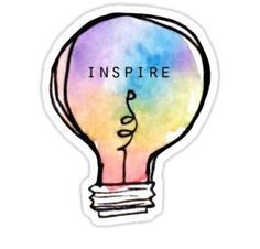Watercolour Lightbulb Sticker