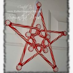 Candy Cane Christmas Star - if you're like me and have leftover candy canes when you're already pepperminted-out!