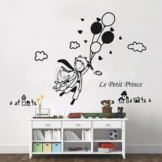 Wall Stickers Wall Decals, Modern The little prince and balloon PVC Wall Stickers - USD $ 24.99