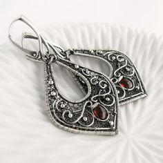 MARGOT Sterling Silver Wire Wrapped Dangle by SilverPleasures, $220.00