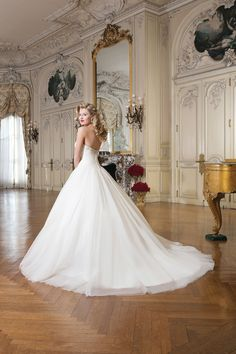 Style 8762 Tulle #ballgown accented with a sweetheart neckline @jabridal