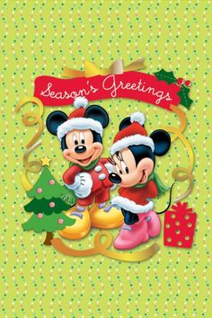 Seasons greetings from Mickey and Minnie
