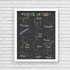 Constellations Art Print by Lucy Darling