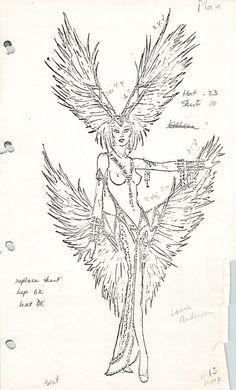 Lavender Showgirl Finale Costume designed by Bob Mackie