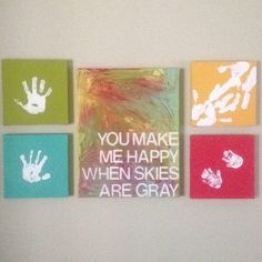 Family Wall Art, for liam's room! with his hand/footprints!