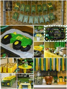 John Deere birthday party ideas for decorations, food, and more!