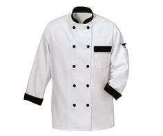 black and white chef coat. Corporate Wear, Corporate Uniforms, Chef Uniforms, Work Uniforms, Hospital Uniforms, College Uniform, Hotel Uniform, School Uniform, Security Uniforms