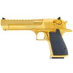 Magnum Research Desert Eagle Mark XIX Semi Auto Pistol .357 Mag 6 Barrel 9 Rounds Synthetic Grips Titanium Gold Finish DE357TG