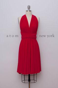 Lipstick Red Infinity Dress Convertible Formal por AtomAttire