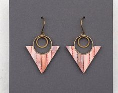 Image result for polymer clay copper earrings