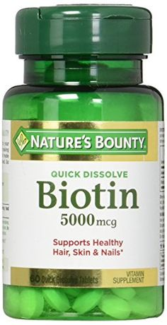 Natures Bounty Biotin 5000 mcg 60 Quick Dissolve Tablets -- Want to know more, click on the affiliate link Amazon.com.