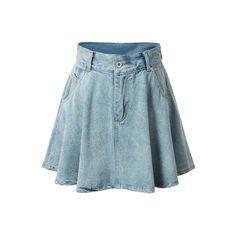 Zee Gee Why Meet My Mum Denim Skirt (£52) ❤ liked on Polyvore ...