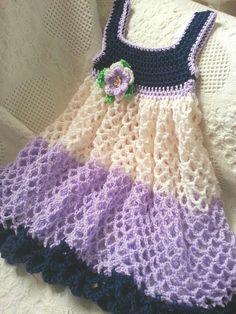 3t dress I made using Caron Simply Soft yarn. Linda Smith