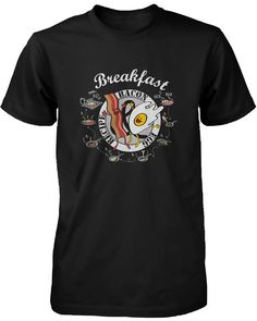 How to Make Bacon and Egg for Breakfast Men's Graphic T-shirt Recipe Print