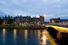 Inverness at sunset. The city my dad spent his teen years in the British Army.