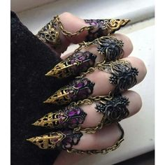 Delicate finger armor and other apparel, accessories and trends. Browse and shop 2 related looks.