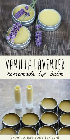 Make your own homemade vanilla lavender lip balm. It's an easy DIY herbal project that smells amazing! Make your own homemade vanilla lavender lip balm. It's an easy DIY herbal project that smells amazing!Before making this lip balm recipe, you w Homemade Lip Balm, Diy Lip Balm, Homemade Vanilla, Homemade Soap Bars, Homemade Soap Recipes, Homemade Candles, Homemade Crafts, Lip Balm Recipes, Lemon Balm Recipes