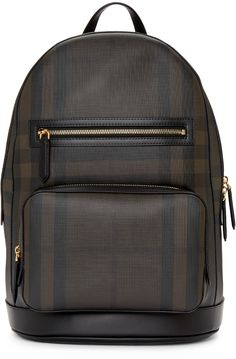 c3e3a5fdfb37 Burberry - Black   Brown London Check Backpack Burberry Backpack