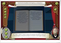 """""""Acentuación de palabras interrogativas y exclamativas"""" (Aplicación de Lengua Española de Primaria) Language, Teaching Resources, Interactive Activities, Spanish Language, Language Arts"""