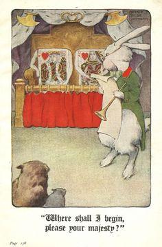 Alice In Wonderland .illustrated by Bessie Pease Gutman 1920