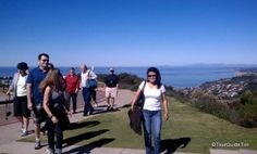 Guests enjoying the panoramic views from Mount Soledad. No Heat Waves, Hot Days, La Jolla, San Diego, Tours