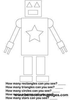 robot shapes -- this would be a good group discussion during circle time for the younger kids.