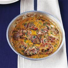 Pork medallions with chilli, lemon and chive creme fraiche Recipe | delicious. Magazine free recipes
