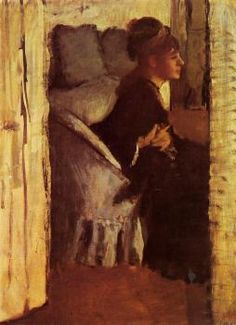 Woman Putting on Her Gloves - Edgar Degas