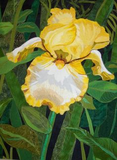 Quilt by Melinda Bula | flowers | Pinterest | Quilt, Yellow and Irises