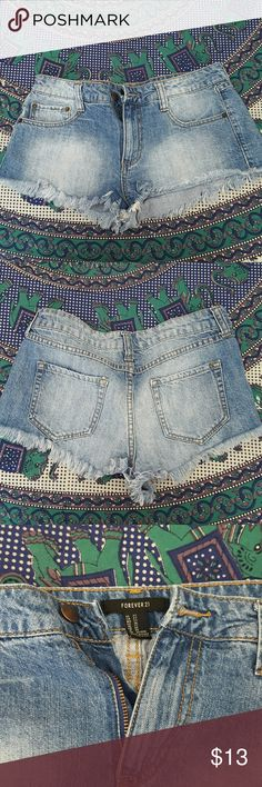 Festival shorts Cute summer shorts, open to offers :) Forever 21 Shorts Jean Shorts