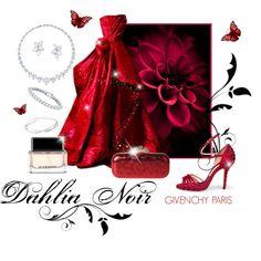 ~Dahlias & Diamonds~ by justwanderingon on Polyvore featuring Oscar de la Renta, Kwiat, Auriya, Ippolita, Givenchy and Harry Winston