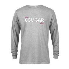Saturday Night Live Cougar Den Logo Long Sleeve T-Shirt Late Night Comedy, Saturday Night Live, Rib Knit, Den, Long Sleeve Tees, Logo, Sweatshirts, Sleeves, Mens Tops