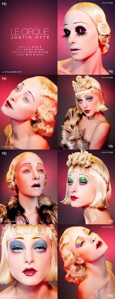 Make up idea - vintage circus makeup Make Up Looks, Maquillage Halloween, Halloween Makeup, Fx Makeup, Hair Makeup, Makeup Brushes, Cirque Vintage, Theatrical Makeup, Make Up Art