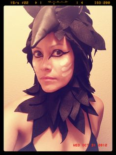 How to Make Raven Costume | How To Make A Raven Bird Costume I fell in love with the raven
