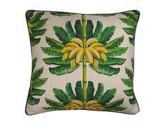 Bahama Banana White cushion cover