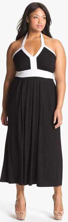 Calvin Klein Plus Size Halter Dress