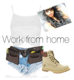 Normani by lowkeybrenny on Polyvore featuring polyvore fashion style Topshop Timberland Levi's clothing