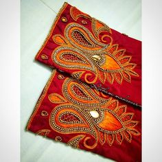 Best Embroidery Machine, Hand Embroidery Dress, Beaded Embroidery, Machine Embroidery Designs, Embroidered Blouse, Wedding Saree Blouse Designs, Silk Saree Blouse Designs, Blouse Neck Designs, Sleeve Designs