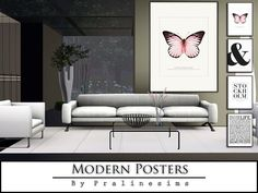 Modern Posters by Pralinesims - Sims 3 Downloads CC Caboodle