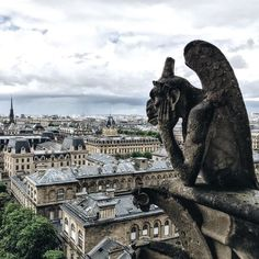 Stamp #557- France: An Iconic View Paris - Cathédrale Notre Dame de Paris. If you want to have one of the best views of the city and meet the fantastic gargoyles you need to visit the top of the cathedral. Make sure you are in shape though because there are almost 400 steps.  Thanks @sofliind for sharing your #stamp! For more adventures and travel tips download the Stamp Travel App today. The link is in our bio!