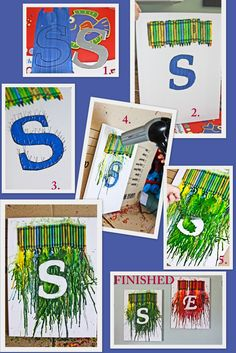 Are you kids bored this summer? Try a fun kid craft with this crayon art idea.