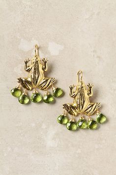 Anthropologie Capra Leap Earrings - these would be perfect for my trips to Puerto Rico!