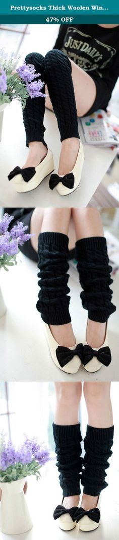 Prettysocks Thick Woolen Winter Boots Cover Footwear Socks Long Leg Warmers Black. wash by hand and Dry clean Package include:1 pair x leg warmer It is very warm and the design is keep up with the fashion. Due to the different monitor and light effect, the actual color of the item might be slightly different from the color showed on the pictures, Please don't mind.